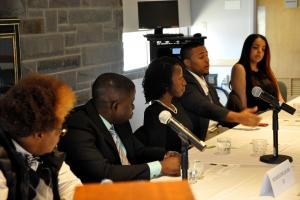 4 alumni of color on a career panel