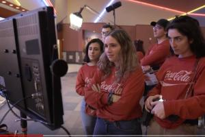 student producers of Coke commercial