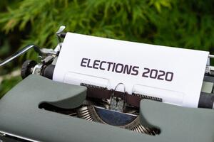 Typewriter with Image of Elections2020