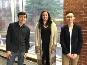 Concerto Competition winners (l to r) Ivan Yumagulov, Megan Jones, Sara Mercurio.