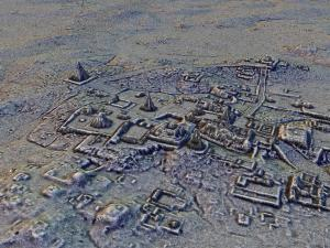 A 3-D scan of an archeological site in Tikal, Guatemala