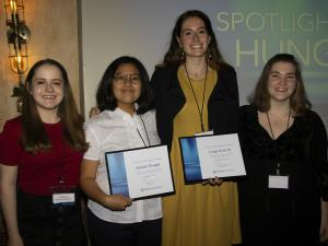 Students honored for their work on hunger