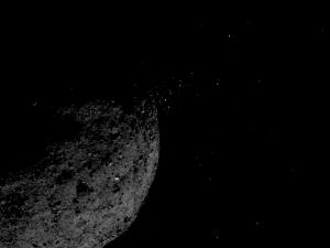 black-and-white photo of asteroid