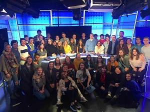 students producing election night tv