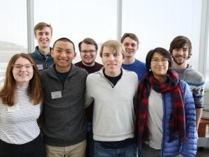 A group of students posing for a photo