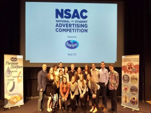 Students pose for a group shot at the 2019 NSAC competition.
