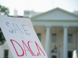 sign reading Save DACA