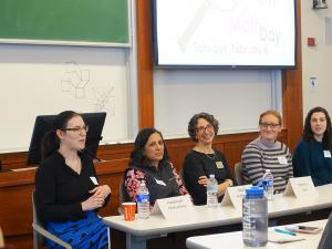 women in math panel