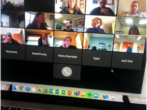 photo of people on virtual conference