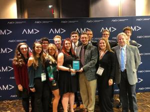 Students from Ithaca College's American Marketing Association attending an Intercollegiate AMA conference
