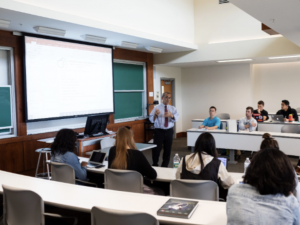 International Business students in a classroom