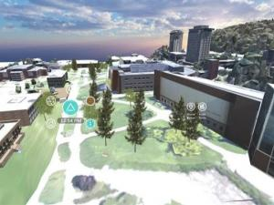 virtual version of Ithaca College campus