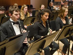 Students playing in Concert Band