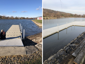 Two shots of the new Dock