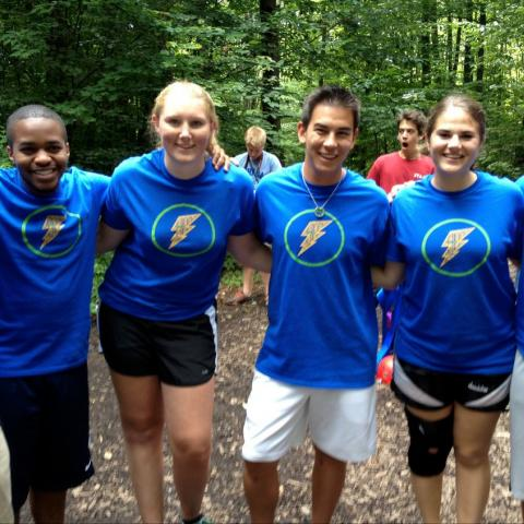 Home ithaca college group of six students pose in project jumpstart tee shirts fandeluxe Images