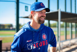 Josh Lifrak in Cubs gear