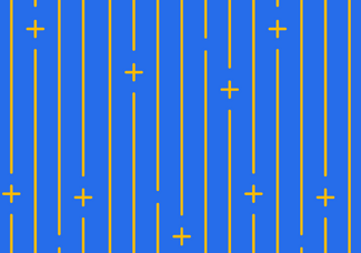 Pattern of plus symbles and verticle lines.