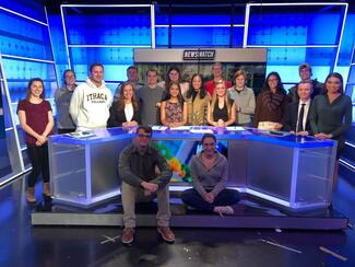 News Watch team of students in the studio