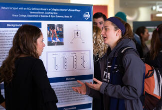 A student presenting at the Whalen Symposium