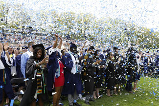confetti at graduation