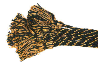 Black and gold cords with tassles