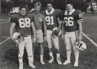 Dennis Kayser with 1988 captains
