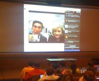 David Muir and Diane Sawyer Skyping into S'Park