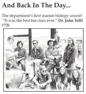1972 class with Dr. John Tolli