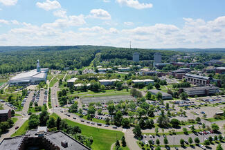 aerial of Ithaca College
