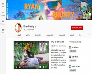 Ryan Prunty's Youtube page