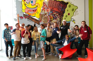 Summer ICLA students tour Nickelodeon studios