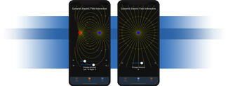 Magnetic field app for Android and iOS