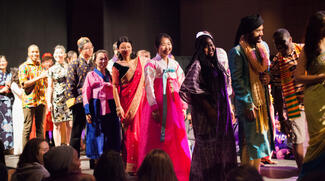 International Students Participating in Interfashional Night Fashion Show