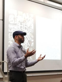 "Associate Professor of English, Derek Adams, delivers an invited lecture, ""The Only Grace You Can Have is the Grace You Can Imagine: Toni Morrison's Legacy"", for Black History Month at Lewis & Clark State College."