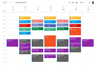October Sample Schedule