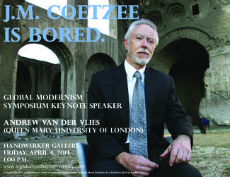 invited speaker lecturers on JM Coetzee