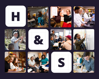 photo collage of students across H&S disciplines