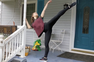 dancer on the porch