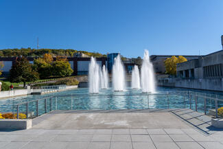 Scenic of the Dillingham Fountains.