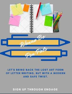 Wanna Be Pen Pals?  Let's bring back the lost art form of letting writing, but with a modern and safe twist.  Sign up through Engage.