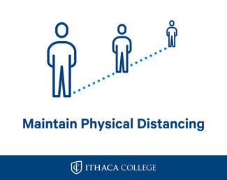 "Sign showing people spaced out and reading ""Maintain Physical Distancing"""