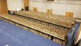 Bags of Food in Emerson Suites