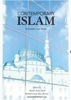 Contemporary Islam, cover