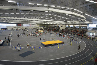 Track meet at Glazer Arena