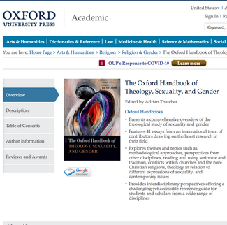 Oxford Handbook of Theology