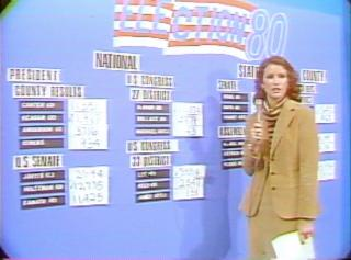 Election night coverage on ICTV in 1980