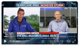 David Muir covering storm