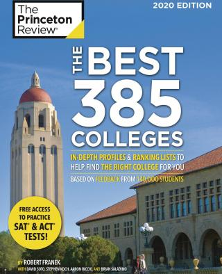 "Princeton Review ""Best 385 Colleges"" cover"