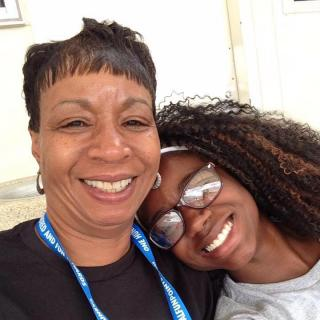 Gwen Benners with her daughter Monifa