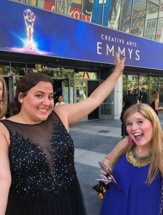 Students at the Emmy awards